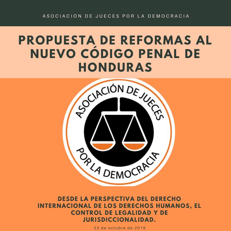 Asociación de Jueces por la Democracia  presentó propuesta de ampliación de  Vacatio Legis y reformas al nuevo Código Penal