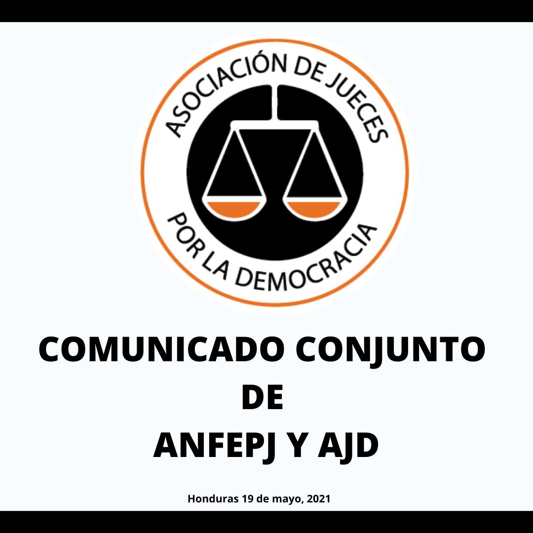 COMUNICADO CONJUNTO DE ANFEPJ Y AJD